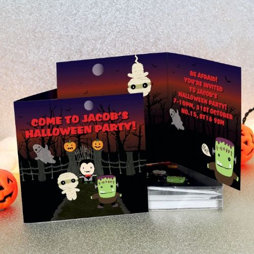 Personalised Halloween Party Invites